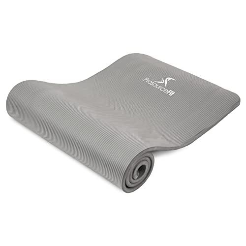 """ヨガマット フィットネス ps-2008-mat-grey-ffp ProsourceFit Extra Thick Yoga and Pilates Mat ?"""" (13mm), 71-inch Long High Density Exercise Mat with Comfort Foam and Carrying Strap, Greyヨガマット フィットネス ps-2008-mat-grey-ffp"""