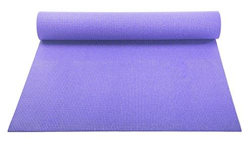 ヨガマット フィットネス 【送料無料】YogaAccessories 1/8'' Lightweight Classic Yoga Mat and Exercise Pad - Light Purpleヨガマット フィットネス