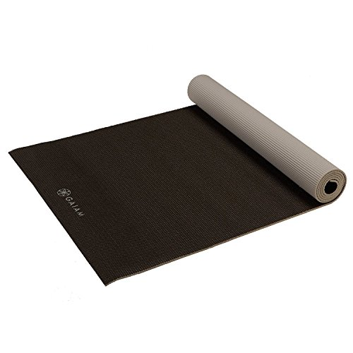 ヨガマット フィットネス 05-61329 Gaiam Yoga Mat Premium Solid Color Reversible Non Slip Exercise & Fitness Mat for All Types of Yoga, Pilates & Floor Exercises, Granite Storm, 5mmヨガマット フィットネス 05-61329