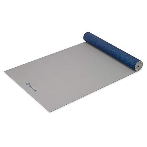 ヨガマット フィットネス 05-61964 Gaiam Yoga Mat Premium Solid Color Reversible Non Slip Exercise & Fitness Mat for All Types of Yoga, Pilates & Floor Exercises, Icy Frost, 5mmヨガマット フィットネス 05-61964
