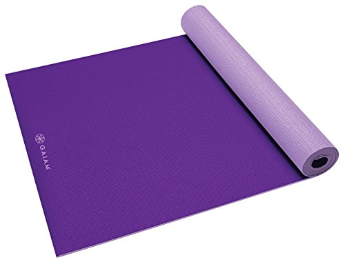 ヨガマット フィットネス 05-60526 Gaiam Yoga Mat Premium Solid Color Reversible Non Slip Exercise & Fitness Mat for All Types of Yoga, Pilates & Floor Exercises, Plum/Jam, 5/6mm (Same size mat, but packaging may vary tヨガマット フィットネス 05-60526