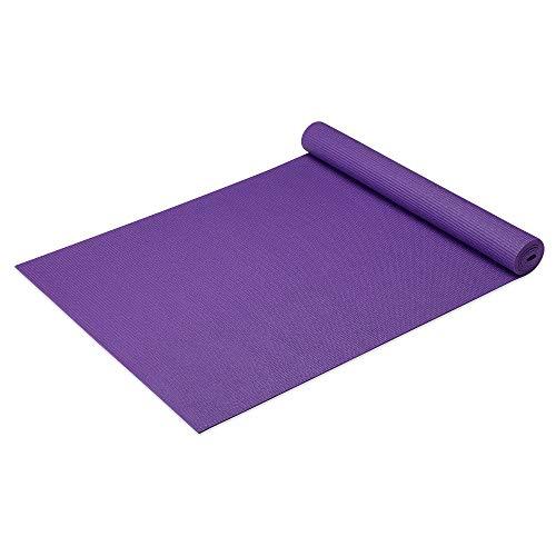 ヨガマット フィットネス 600-1301PURP Gaiam Yoga Mat Classic Solid Color Reversible Non Slip Exercise & Fitness Mat for All Types of Yoga, Pilates & Floor Exercises, Purple, 3/4mmヨガマット フィットネス 600-1301PURP