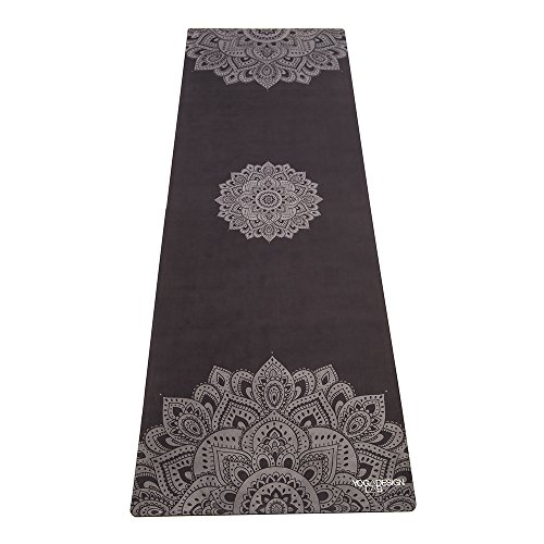 ヨガマット フィットネス 712038073771 YOGA DESIGN LAB The Combo Yoga MAT Eco Luxury Mat/Towel That Grips The More You Sweat | Designed in Bali | Ideal for Hot Yoga, Bikram, Sweaty Practice | w/Strap! (Mandala Blackヨガマット フィットネス 712038073771