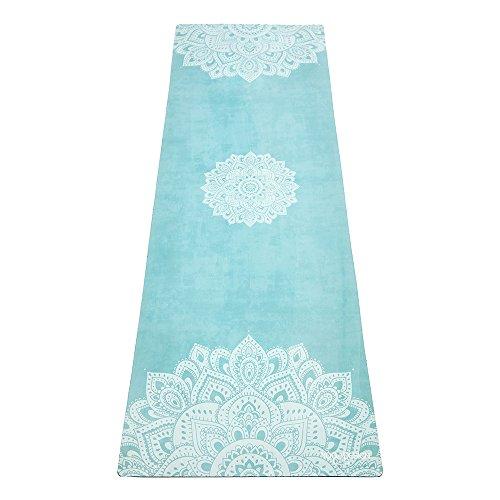 ヨガマット フィットネス 712038073788 YOGA DESIGN LAB The Combo Yoga MAT Eco Luxury Mat/Towel That Grips The More You Sweat | Designed in Bali | Ideal for Hot Yoga, Bikram, Sweaty Practice | w/Strap! (Mandala Turquヨガマット フィットネス 712038073788
