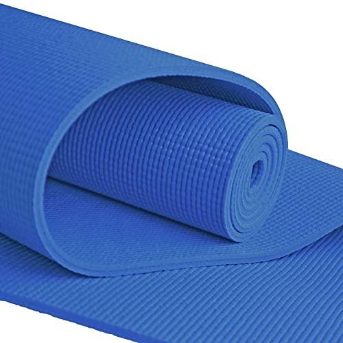 ヨガマット フィットネス 【送料無料】YogaAccessories Extra Long 1/4'' Deluxe Yoga Mat (Blue)ヨガマット フィットネス