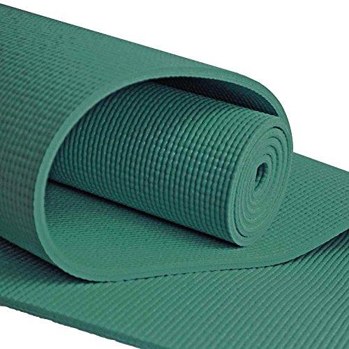 ヨガマット フィットネス YogaAccessories Extra Long 1/4'' Deluxe Yoga Mat - Forest Greenヨガマット フィットネス