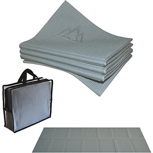 ヨガマット フィットネス 【送料無料】Khataland YOFOMAT Folding ECO Extra Long Yoga MAT Greyヨガマット フィットネス