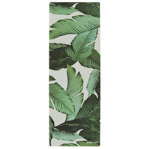 ヨガマット フィットネス Banana Leaf Yoga Mat - Beverly Hills Themed Banana Leaves Print - Palm Printed, Machine Washable, Printed, Non-Slip, Thick, Extra Long, Best Grip/Combo Mat, Great for Sweaty Practiceヨガマット フィットネス