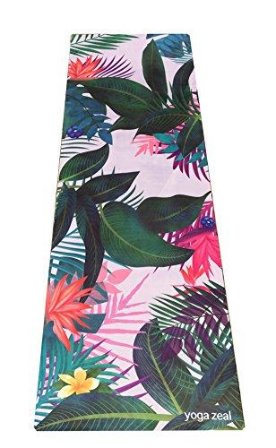 ヨガマット フィットネス Island Yoga Mat - Floral/Island Themed Yoga Mat - Limited Edition - Colorful, Uniquely Designed Yoga Mat - Non-Slip Function for Hot Yogi Practitionersヨガマット フィットネス
