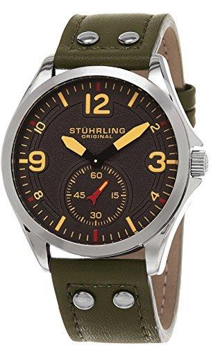 ストゥーリングオリジナル 腕時計 メンズ 684.03 Stuhrling Original Men's 684.03 Tuskegee Quartz Green Leather Strap Watchストゥーリングオリジナル 腕時計 メンズ 684.03