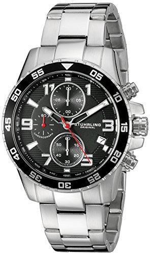 腕時計 ストゥーリングオリジナル メンズ 985.02 【送料無料】Stuhrling Original Men's 985.02 Concorso Quartz Chronograph Date Stainless Steel Watch腕時計 ストゥーリングオリジナル メンズ 985.02