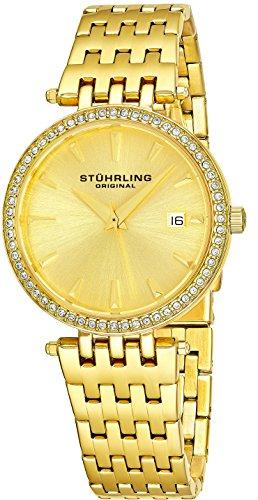 ストゥーリングオリジナル 腕時計 レディース 579.03 Stuhrling Original Women's 579.01 Soiree Swiss Quartz Swarovski Crystals Date Watch (Yellow Gold)ストゥーリングオリジナル 腕時計 レディース 579.03