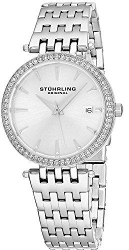 ストゥーリングオリジナル 腕時計 レディース 579.01 【送料無料】Stuhrling Original Women's 579.01 Soiree Swiss Quartz Swarovski Crystals Date Watch (Silver)ストゥーリングオリジナル 腕時計 レディース 579.01
