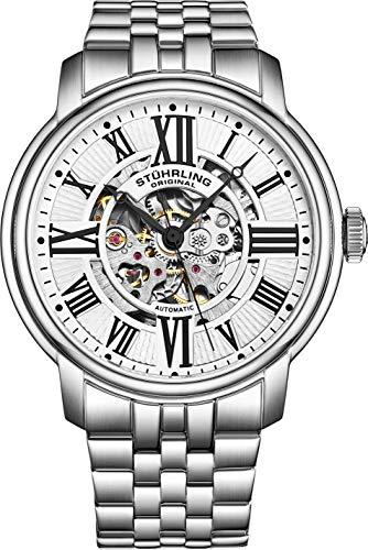 ストゥーリングオリジナル 腕時計 メンズ 812.01 Stuhrling Original Men's 812.01 Atrium Automatic Skeleton Stainless Steel Watchストゥーリングオリジナル 腕時計 メンズ 812.01