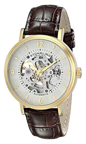 ストゥーリングオリジナル 腕時計 メンズ 647.02SET 【送料無料】Stuhrling Original Men's 647.02SET Legacy Automatic Skeleton Gold Watch with Additional Strapストゥーリングオリジナル 腕時計 メンズ 647.02SET