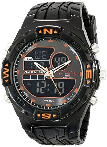 ユーエスポロアッスン 腕時計 メンズ US9059 U.S. Polo Assn. Sport Men's US9059 Analog-Digital Watch with Black Rubber Bandユーエスポロアッスン 腕時計 メンズ US9059