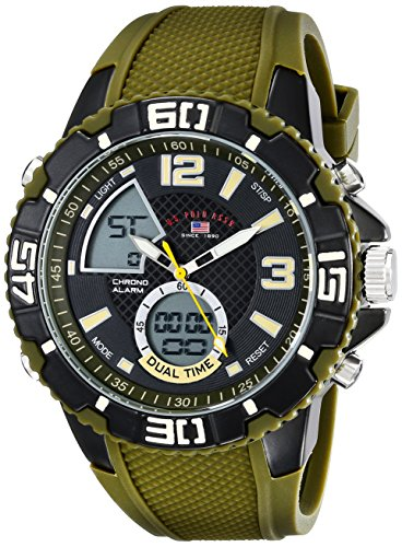 ユーエスポロアッスン 腕時計 メンズ US9481 【送料無料】U.S. Polo Assn. Sport Men's US9481 Analog-Digital Display Analog Quartz Green Watchユーエスポロアッスン 腕時計 メンズ US9481
