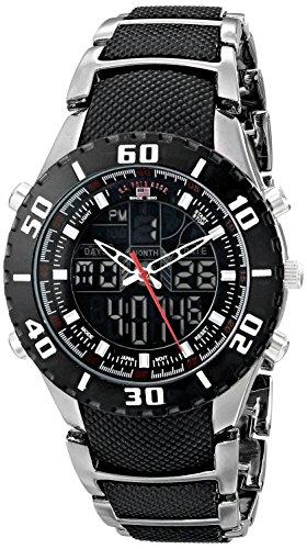 ユーエスポロアッスン 腕時計 メンズ US8163EXL 【送料無料】U.S. Polo Assn. Sport Men's US8163EXL Analog-Digital Extra Long Gunmetal Bracelet Watchユーエスポロアッスン 腕時計 メンズ US8163EXL