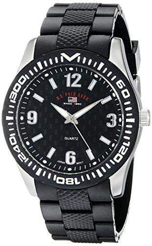 ユーエスポロアッスン 腕時計 メンズ US9077 【送料無料】U.S. Polo Assn. Sport Men's US9077 Black Rubber Analog Watchユーエスポロアッスン 腕時計 メンズ US9077