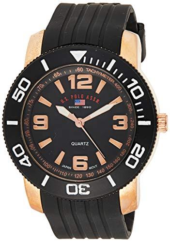 ユーエスポロアッスン 腕時計 メンズ US9125 【送料無料】U.S. Polo Assn. Sport Men's US9125 Black and Rose Gold-Tone Watchユーエスポロアッスン 腕時計 メンズ US9125