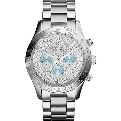 マイケルコース 腕時計 レディース 母の日特集 マイケル・コース MK6076 【送料無料】Michael Kors MK6076 Women's Layton Silver Tone Chronograph Watchマイケルコース 腕時計 レディース 母の日特集 マイケル・コース MK6076