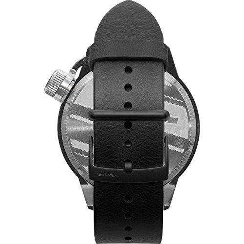 ベスタル ヴェスタル 腕時計 メンズ CNT3L04 Vestal Canteen Italia Stainless Steel Japanese-Quartz Watch with Leather Calfskin Strap, Black, 22 (Model: CNT3L04ベスタル ヴェスタル 腕時計 メンズ CNT3L04