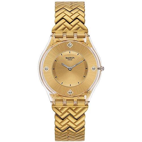 スウォッチ 腕時計 メンズ SFE106G 【送料無料】Swatch SFE106G Golden Street Analog Slim Dial Yellow Gold Steel Bracelet Watchスウォッチ 腕時計 メンズ SFE106G