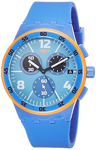 スウォッチ 腕時計 メンズ 夏の腕時計特集 SUSN413 【送料無料】Swatch Capanno Blue Dial Blue Silicone Strap Men'S Watch Susn413スウォッチ 腕時計 メンズ 夏の腕時計特集 SUSN413
