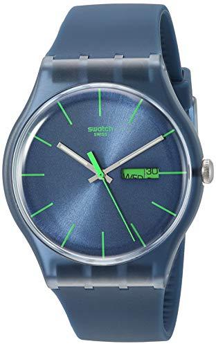 腕時計 スウォッチ メンズ 夏の腕時計特集 SUON700 【送料無料】Swatch Men's SUON700 Quartz Navy Blue Dial Plastic Date Luminous Watch腕時計 スウォッチ メンズ 夏の腕時計特集 SUON700