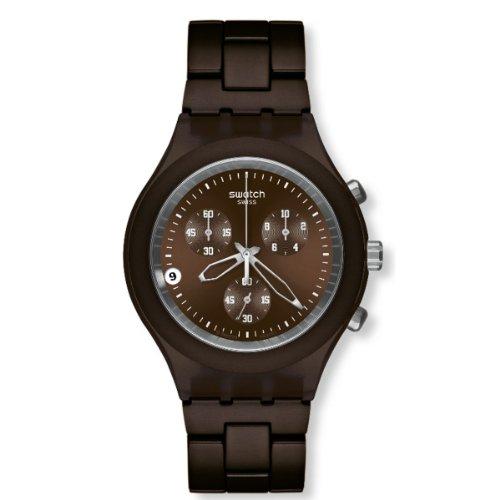 スウォッチ 腕時計 メンズ SVCC4000AG Swatch Full-Blooded Smoky Brown Chrono Men's watch #SVCC4000AGスウォッチ 腕時計 メンズ SVCC4000AG