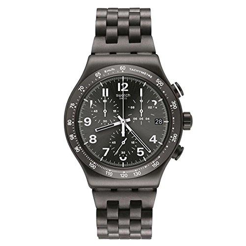 スウォッチ 腕時計 メンズ Swatch-YVM402G_E1 【送料無料】Swatch Irony Destination Soho Black Dial Stainless Steel Men's Watch YVM402Gスウォッチ 腕時計 メンズ Swatch-YVM402G_E1