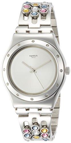 スウォッチ 腕時計 レディース YLS196G 【送料無料】Swatch Sparklance Silver Dial Stainless Steel Ladies Watch YLS196Gスウォッチ 腕時計 レディース YLS196G