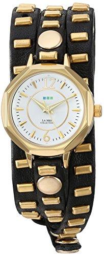 ラメールコレクションズ 腕時計 レディース LMSW9050 La Mer Collections Women's Japanese-Quartz Watch with Leather Calfskin Strap, Black, 7.9 (Model: LMSW9050)ラメールコレクションズ 腕時計 レディース LMSW9050