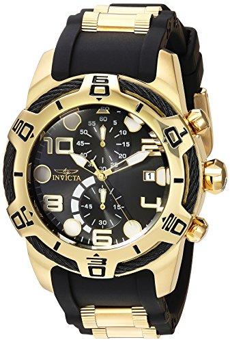 インヴィクタ インビクタ ボルト 腕時計 メンズ 24218 Invicta Men's 'Bolt' Quartz Gold and Silicone Casual Watch, Color:Two Tone (Model: 24218)インヴィクタ インビクタ ボルト 腕時計 メンズ 24218