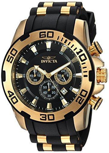 インヴィクタ インビクタ プロダイバー 腕時計 メンズ 22340 Invicta Men's Pro Diver Stainless Steel Quartz Watch with Silicone Strap, Black, 25 (Model: 22340)インヴィクタ インビクタ プロダイバー 腕時計 メンズ 22340