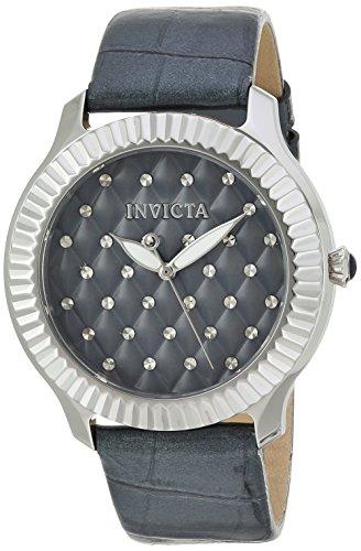 インヴィクタ インビクタ エンジェル 腕時計 レディース 22565 Invicta Women's Angel Stainless Steel Quartz Watch with Leather Calfskin Strap, Grey, 20 (Model: 22565)インヴィクタ インビクタ エンジェル 腕時計 レディース 22565