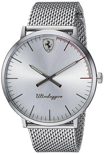 フェラーリ 腕時計 メンズ 0830407 Scuderia Ferrari Men's Ultraleggero Stainless Steel Quartz Watch with Mesh Bracelet Strap, Tone, 20 (Model: 0830407)フェラーリ 腕時計 メンズ 0830407