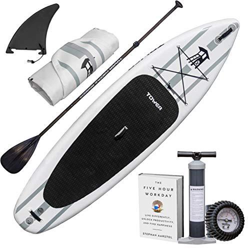 """スタンドアップパドルボード マリンスポーツ サップボード SUPボード Tower Inflatable 10'4"""" Stand Up Paddle Board - (6 Inches Thick) - Universal SUP Wide Stance - Premium SUP Bundle (Puスタンドアップパドルボード マリンスポーツ サップボード SUPボード"""
