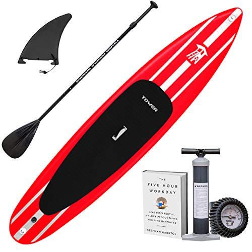 """スタンドアップパドルボード マリンスポーツ サップボード SUPボード BD-TWR-IRACE-PKG Tower iRace Inflatable 12'6"""" Stand Up Paddle Board - (6 Inches Thick) - Universal スタンドアップパドルボード マリンスポーツ サップボード SUPボード BD-TWR-IRACE-PKG"""