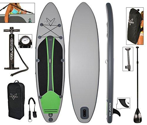 スタンドアップパドルボード マリンスポーツ サップボード SUPボード 夏のアクティビティ特集 Vilano Voyager 11' Inflatable SUP Stand Up Paddle Board Package, 6