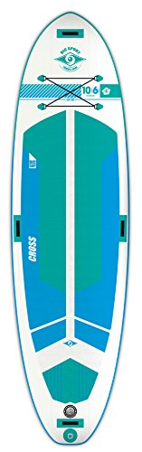 スタンドアップパドルボード マリンスポーツ サップボード SUPボード AIR INFLATABLE CROSS BIC Sport AIR Inflatable Cross SUP Stand Up Paddleboard, White/Blue/Aqua, 10'6スタンドアップパドルボード マリンスポーツ サップボード SUPボード AIR INFLATABLE CROSS