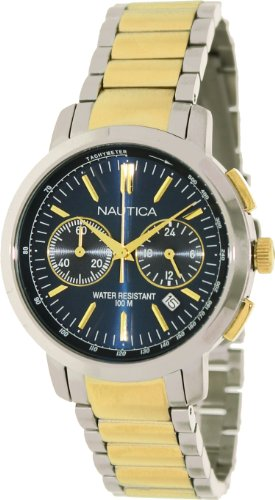 ノーティカ 腕時計 メンズ N23604M 【送料無料】Nautica NCT 800 Chronograph Two-tone Stainless Steel Men's watch #N23604Mノーティカ 腕時計 メンズ N23604M