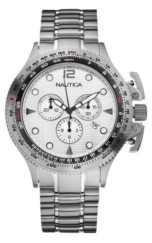 腕時計 ノーティカ メンズ N26508G 【送料無料】Nautica Men's N26508G BFC II Stainless Steel Chronograph Watch腕時計 ノーティカ メンズ N26508G