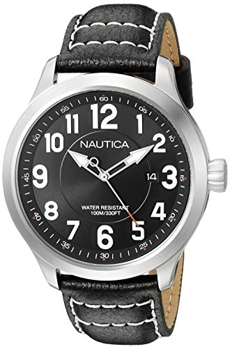 ノーティカ 腕時計 メンズ NAD10004G Nautica Men's NAD10004G NCC 01 Date Analog Display Analog Quartz Black Watchノーティカ 腕時計 メンズ NAD10004G