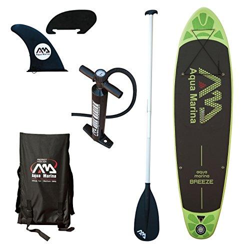 スタンドアップパドルボード マリンスポーツ サップボード SUPボード A110163GNM Aqua Marina A110163GNM Inflatable Stand-up Breeze Paddle Board with Paddleスタンドアップパドルボード マリンスポーツ サップボード SUPボード A110163GNM