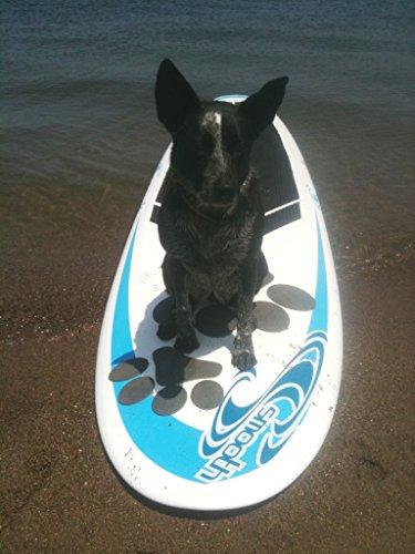 無料ラッピングでプレゼントや贈り物にも。逆輸入並行輸入送料込 【送料無料】犬用SUPトランクションパッド 足跡型パップデック スタンドアップパドルボード用オプション Better Surf than Sorry