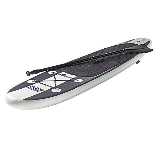 スタンドアップパドルボード マリンスポーツ サップボード SUPボード North Gear 10FT Inflatable SUP Stand up Paddle Board Package White/Blackスタンドアップパドルボード マリンスポーツ サップボード SUPボード
