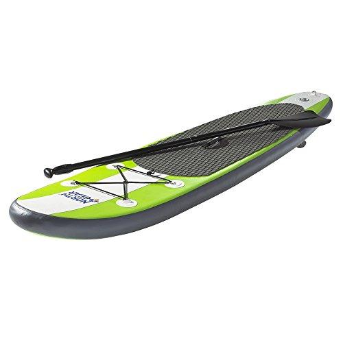 スタンドアップパドルボード マリンスポーツ サップボード SUPボード North Gear 10FT Inflatable SUP Stand up Paddle Board Package White/Lime Greenスタンドアップパドルボード マリンスポーツ サップボード SUPボード