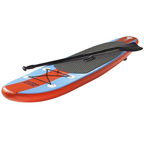 スタンドアップパドルボード マリンスポーツ サップボード SUPボード 夏のアクティビティ特集 North Gear 8FT Inflatable SUP Stand up Paddle Board Package Ocean Blue/Oraスタンドアップパドルボード マリンスポーツ サップボード SUPボード 夏のアクティビティ特集