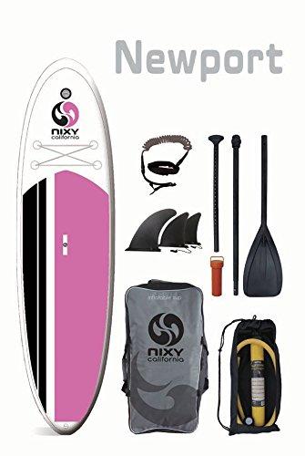 スタンドアップパドルボード マリンスポーツ サップボード SUPボード SUP NIXY Inflatable Stand Up Paddle Board Package for All Around paddle. Ultra Light 10'6